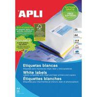 Apli afneembare witte etiketten ft 25,4 x 10 mm (b x h), 4.725 stuk...