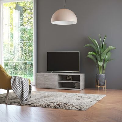vidaXL Tv-meubel 120x34x37 cm spaanplaat betongrijs