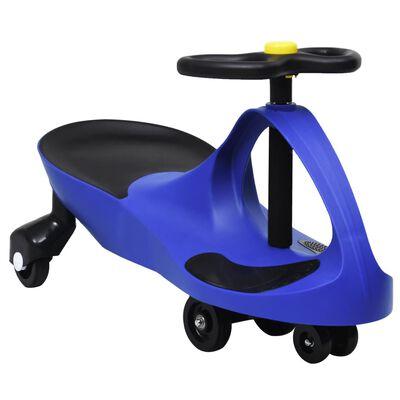 vidaXL Loopauto wiebelend met toeter blauw