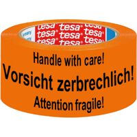1x Tesa waarschuwingstape oranje 5,5cm x 66m - Verpakkingsmateriaal -