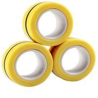 Fidget Toys Magnetische Ringen 3-pack Geel