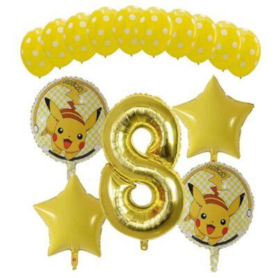 Ballon 53 cm, nummer 8 - goud
