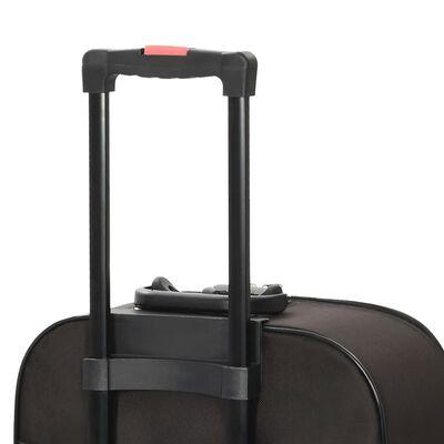 vidaXL Zachte trolleys 3 st oxford stof bruin