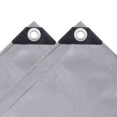 vidaXL Dekzeil 650 g/m² 4x7 m grijs