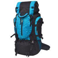 vidaXL Rugzak hiking XXL 75 L zwart en blauw