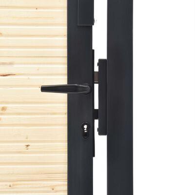 vidaXL Poort 513x150 cm staal en vurenhout