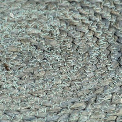 vidaXL Placemats 6 st rond 38 cm jute olijfgroen