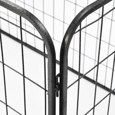 vidaXL Hondenren robuust 120x80x70 cm staal zwart
