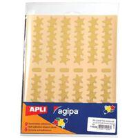 Agipa metallic stickers, blister met 288 stuks, goud en zilver, ste...
