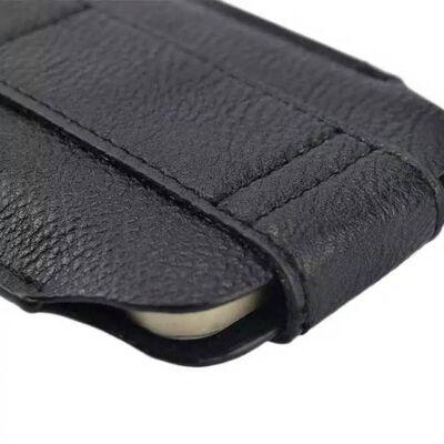 Huawei Y6 2 Zwart Insteekhoesje Met Riemlus En Opbergvakje