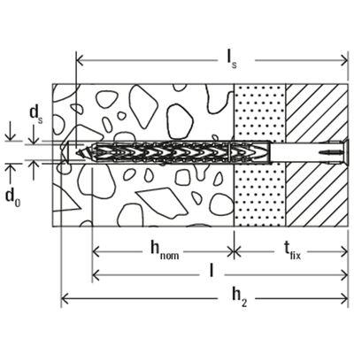 Fischer 50-delige Constructiepluggen- en schroevenset SXRL 8x140 T