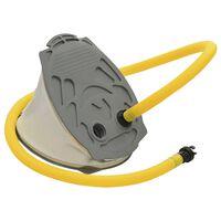 vidaXL Voetpomp 21x29,5 cm PP en PE grijs en geel
