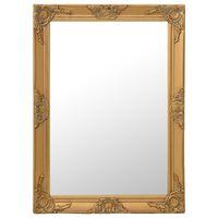 vidaXL Wandspiegel barok stijl 60x80 cm goudkleurig