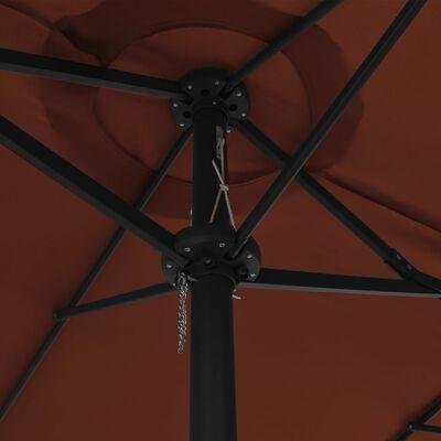 vidaXL Parasol met aluminium paal 460x270 cm terracotta