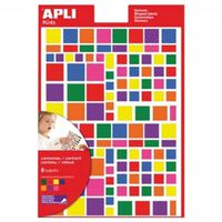 Apli Kids verwijderbare stickers, vierkant, blister met 756 stuks i...