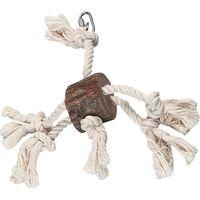 Papegaaienspeelgoed hanger boomstam