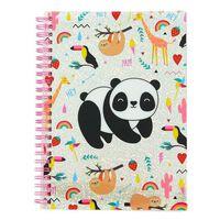 Blueprint Collections notitieboek Happy Zoo panda A5 roze