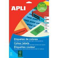 Apli gekleurde etiketten ft 70 x 37 mm (b x h), rood, 480 stuks, 24...