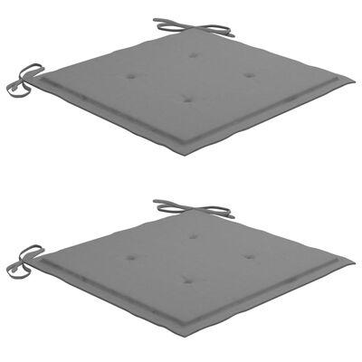 vidaXL 3-delige Tuinset inklapbaar met kussen massief teakhout