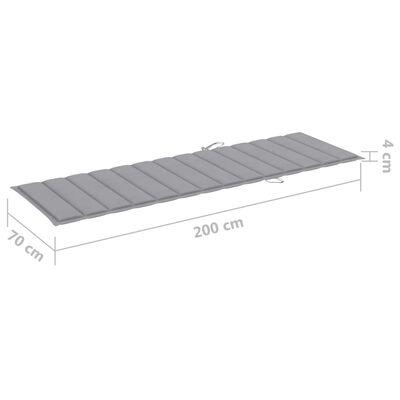 vidaXL Ligbedkussen 200x70x4 cm stof grijs