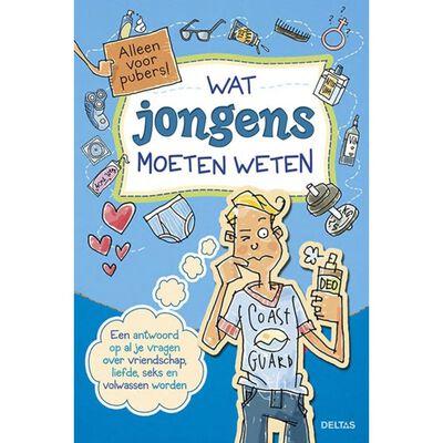 Deltas educatief boek Alleen voor pubers! jongens 23 cm