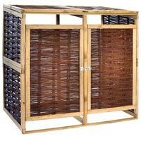 vidaXL Containerberging dubbel grenenhout en wicker