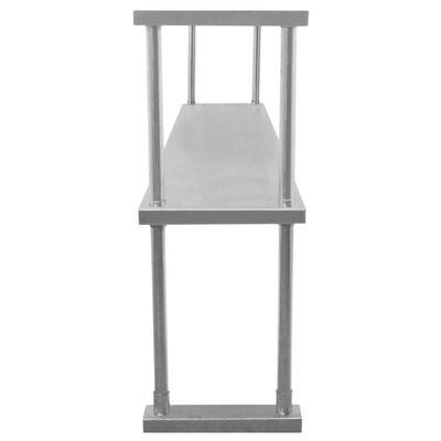 Kukoo - 2 Boven Wandschappen Voor Rvs Werktafel - 180 Cm L - Gratis