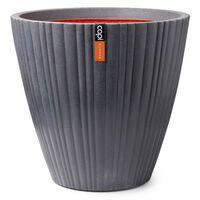 Capi Bloempot Urban Tube taps rond 55x52 cm donkergrijs
