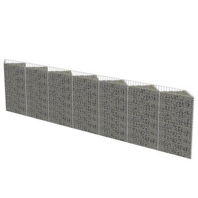 vidaXL Gabion mand 450x30x100 cm gegalvaniseerd staal