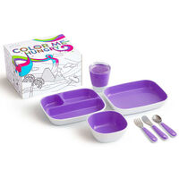 Munchkin 7-delige Eetset Color Me Hungry paars