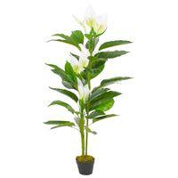 vidaXL Kunstplant met pot Anthurium 155 cm wit
