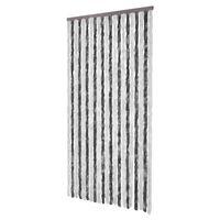 vidaXL Vliegengordijn 100x220 cm chenille grijs en wit