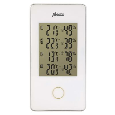 Alecto Weerstation draadloos met 3 sensoren wit WS-1330