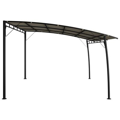 vidaXL Zonneluifel 4x3x2,55 m taupe