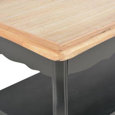 vidaXL Salontafel 87,5x42x44 cm massief grenenhout zwart en bruin