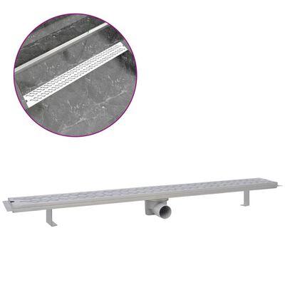 vidaXL Doucheafvoer rechthoekig golf 1030x140 mm roestvrij staal