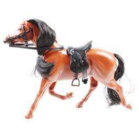 Jonotoys Horses Family paard 23 cm lichtbruin