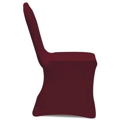 Hoes voor stoelen 50 stuks (wijnrood)