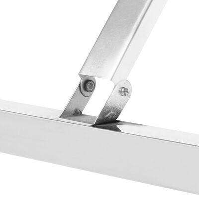 vidaXL Keukenwerktafel inklapbaar 120x60x80 cm roestvrij staal