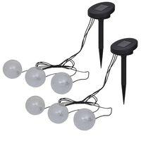 vidaXL Drijflampen 6 st voor vijver en zwembad LED
