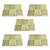 vidaXL 30 st Terrastegels 50x50 cm hout groen