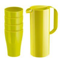 Koziol Schenkkan + 4 Drinkbekers RIO & ROY - Kunststof - Groen