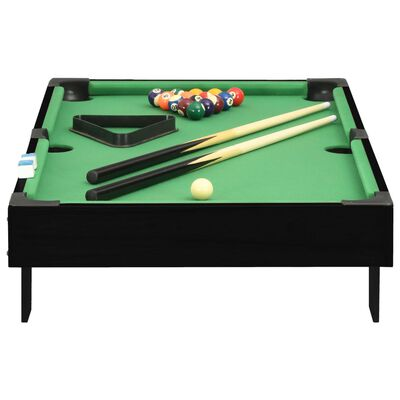 vidaXL Minipooltafel 3 Feet 92x52x19 cm zwart en groen