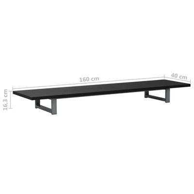 vidaXL Badkamermeubel 160x40x16,3 cm zwart