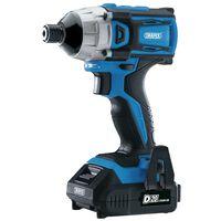 Draper Tools Slagmoersleutel borstelloos met 2 x D20 accu 20 V 180 Nm
