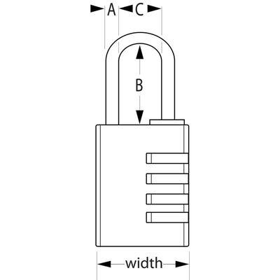 Master Lock Combinatiehangslot 40 mm aluminium 7640EURD