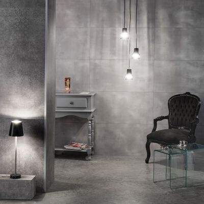 Grosfillex 5 st Wandtegels Gx Wall+ bloem 45x90 cm cementgrijs