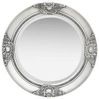 vidaXL Wandspiegel barok stijl 50 cm zilverkleurig