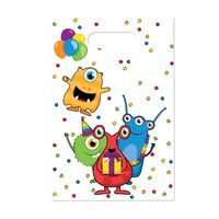 Haza Original feestzakjes monster party 6 stuks