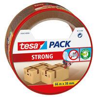 1x Tesa verpakkingstape bruin 66 mtr x 38 mm - Klusmateriaal -